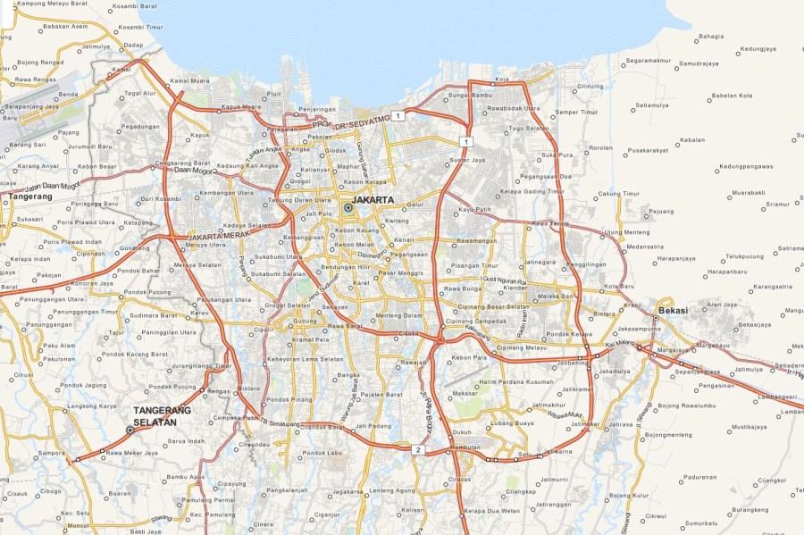 2014.11.28 - Кольцевые дороги Джакарты - OpenStreetMap