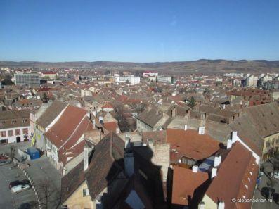 Turnul Sfatului Sibiu-umbra peste oras 2