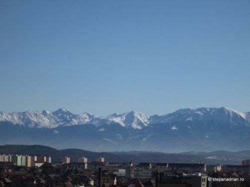 Turnul Sfatului Sibiu-vedere muntii făgăraș
