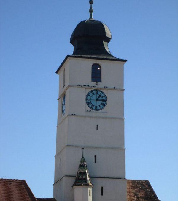 Turnul Sfatului din Sibiu și panorama de sus