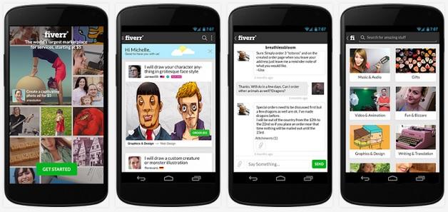 S-a lansat aplicația Fiverr pentru Android