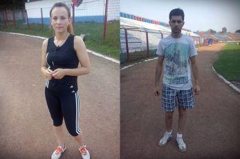 Adriana Cuculea alături de prietenul ei! Cei doi au alergat 10 KM pentru Oana.