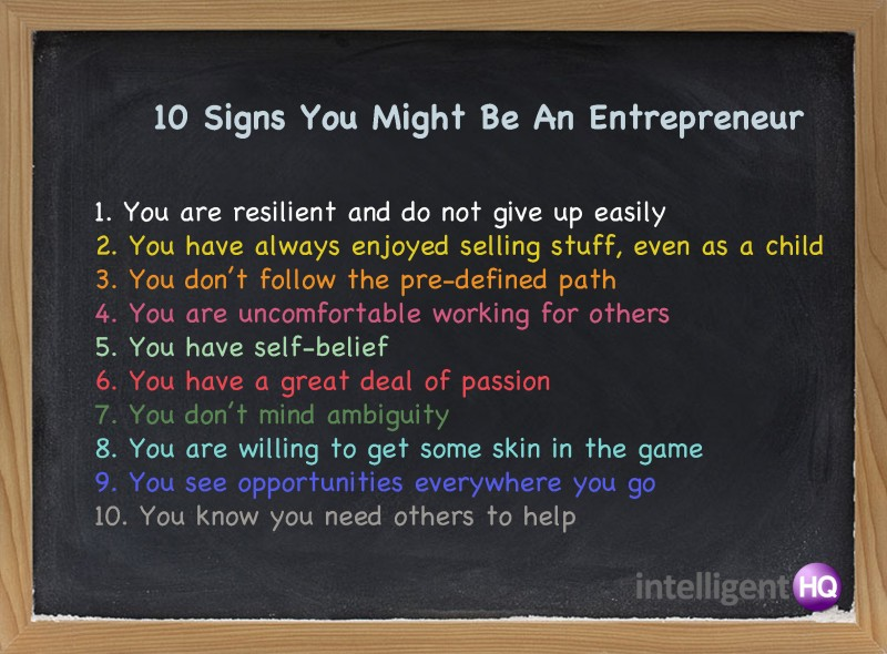 10 aspecte care spun ca este antreprenor