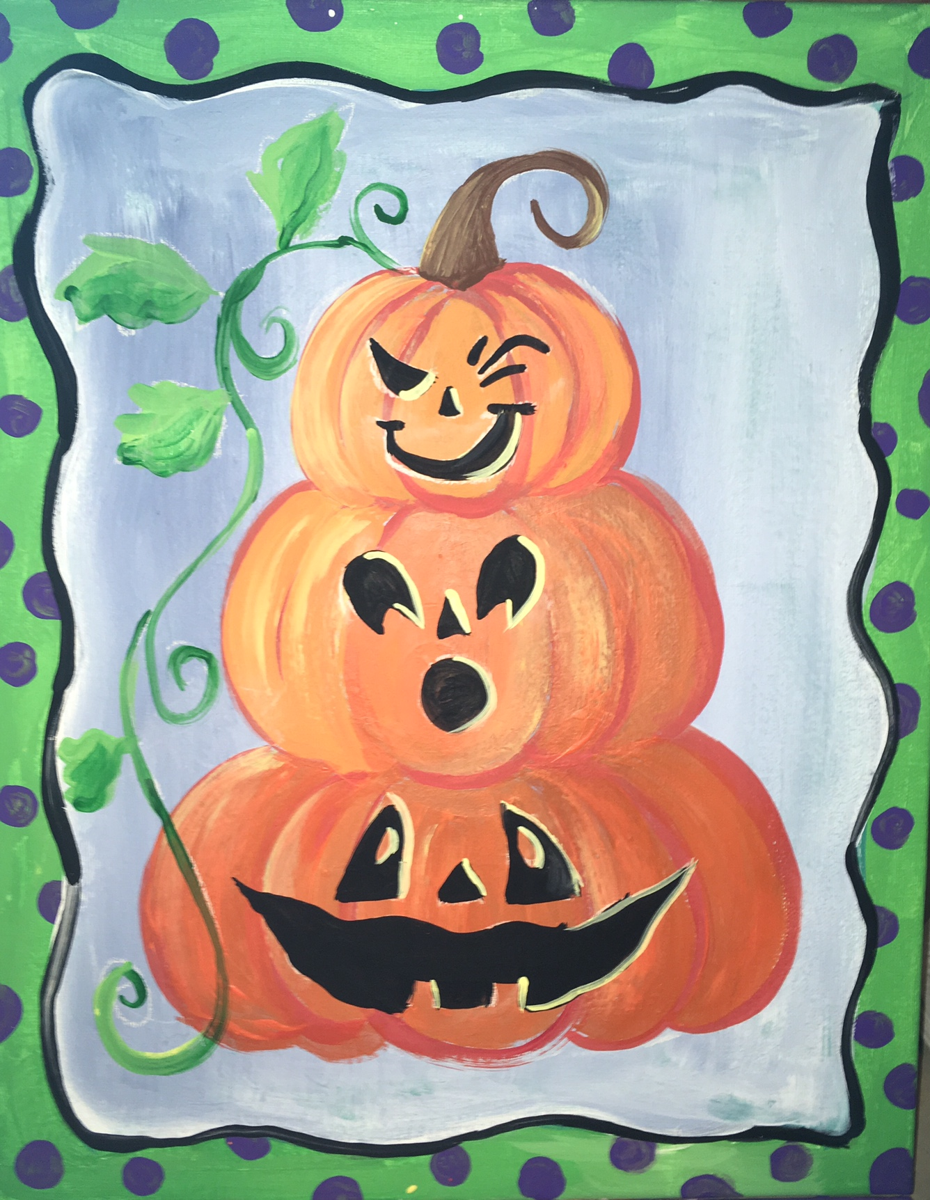 Pumpkin Topiary Painting on Canvas - Step by Step Painting - photo#29
