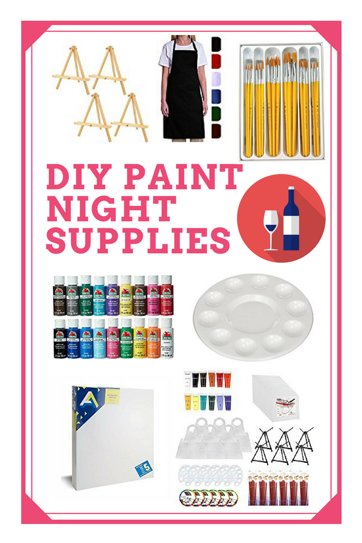 Paint party ideas how to host a diy paint night for Paint night home parties