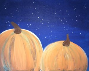 how to paint pumpkins on canvas