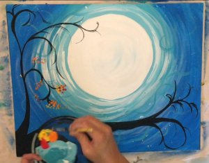Paint Some Leaves Easy Canvas Paintings For Beginners Step