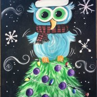 How To Paint An Owl On A Christmas Tree