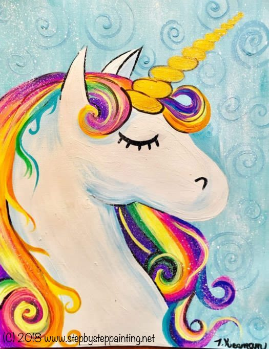 How To Paint A Rainbow Unicorn