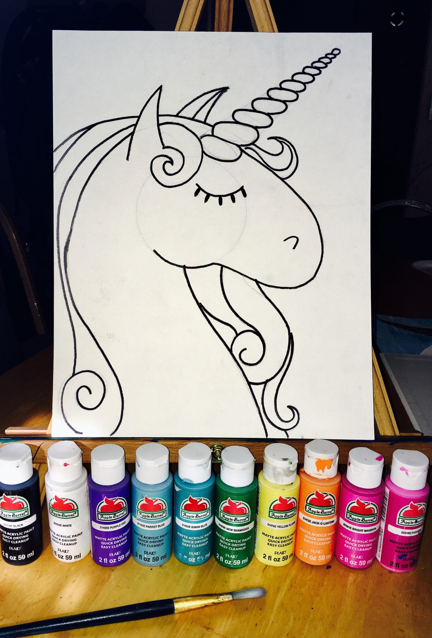 How To Paint A Unicorn - Step By Step Painting - photo#13