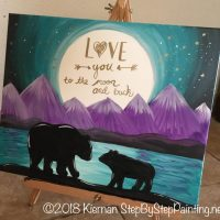 How To Paint A Bear Silhouette With Quote