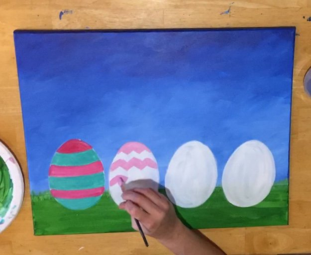 Easter Egg Acrylic Painting 14x14in