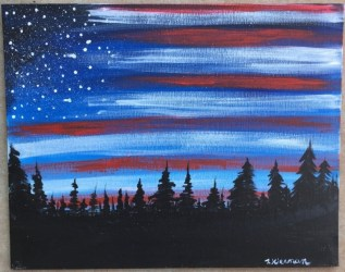 canvas painting beginners flag american paint sky tutorials step summer patriotic acrylic doable absolutely yes building loraine brummer lbrummer stepbysteppainting