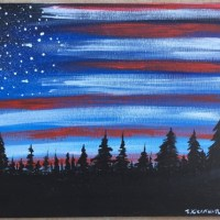 How To Paint American Flag Sky