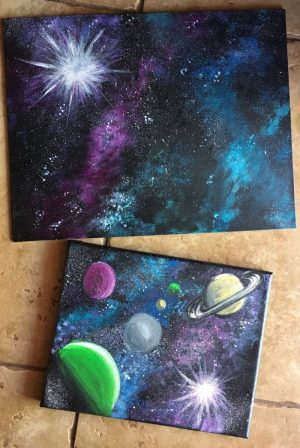How To Make Galaxy Painting Easy