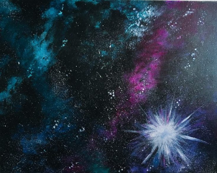 How To Paint A Galaxy Step By Step Painting For Beginners