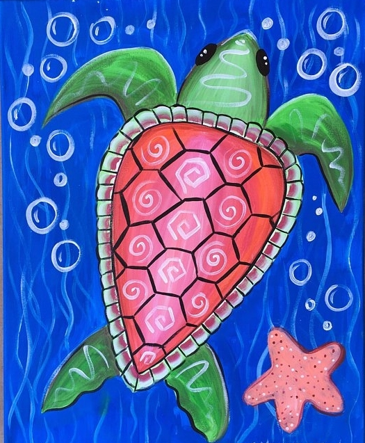 How To Paint A Sea Turtle