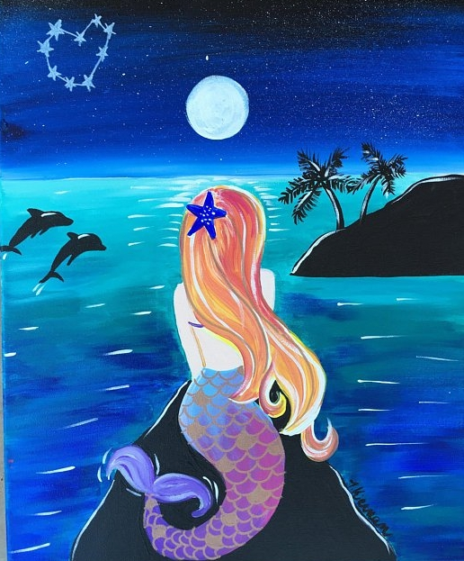 How To Paint A Mermaid