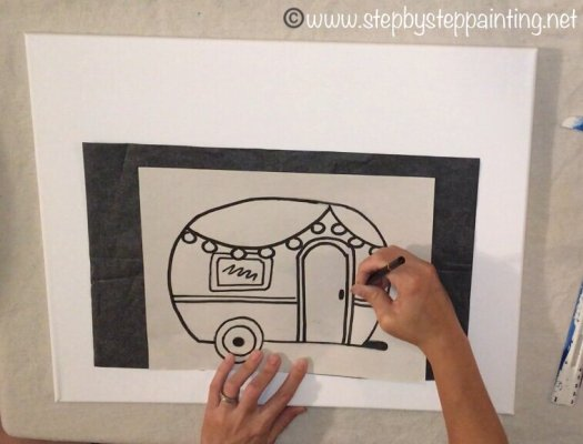 how to draw a camper step by step