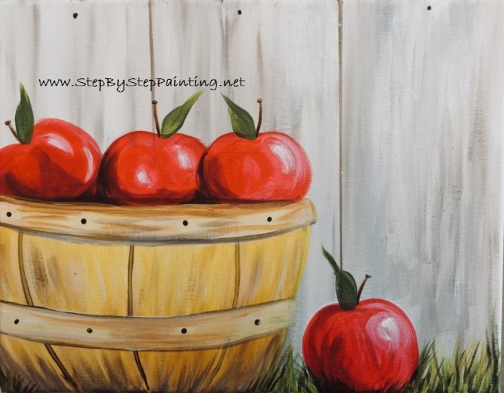 How To Paint Apple Picking Basket