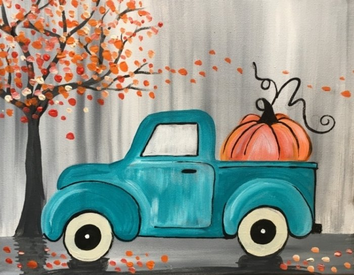 How To Paint A Vintage Pumpkin Truck