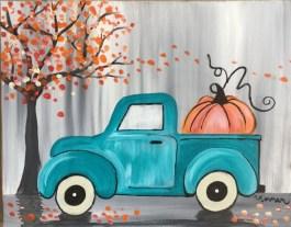 Vintage Pumpkin Truck