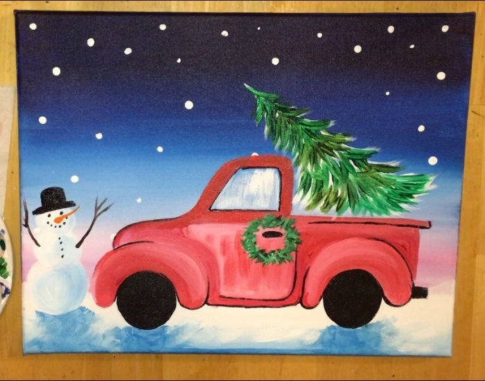 How To Paint A Christmas Tree Truck Step By Step Painting With Tracie Kiernan See more ideas about cartoon palm tree, food truck design, palm tree drawing. how to paint a christmas tree truck
