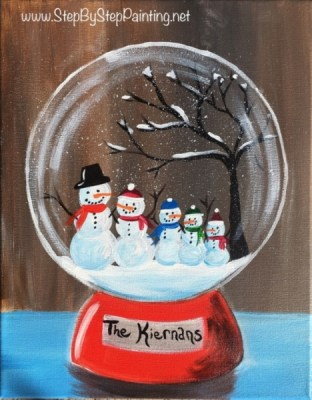 Christmas Canvas Painting Archives Step By With Tracie Kiernan