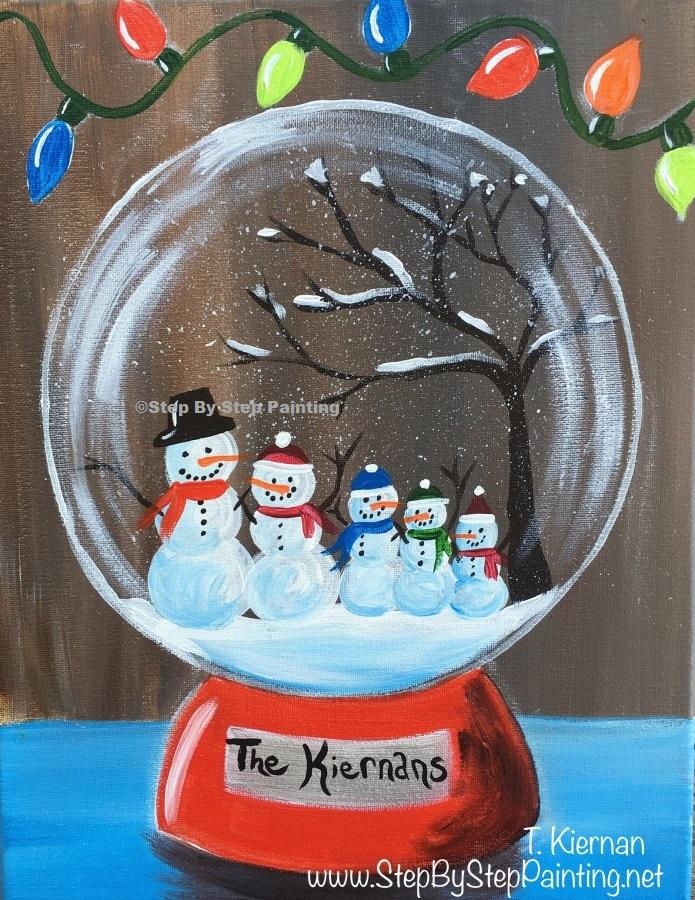 Snowglobe painting