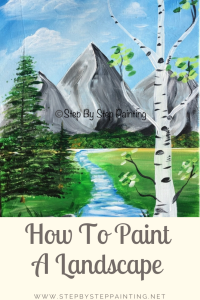How To Paint Mountains With Acrylics : paint, mountains, acrylics, Learn, Paint, Mountains, Acrylic, Painting, Tutorial