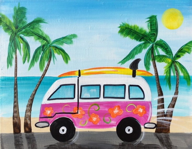 How To Paint A Beach Van