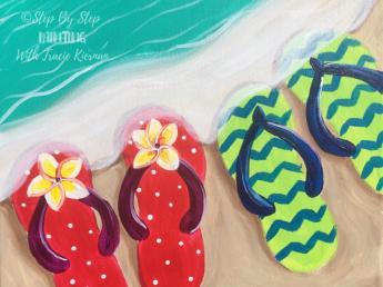 Flip-Flops On The Shore