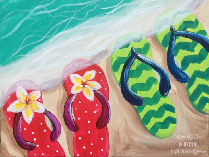 How To Paint Flip-Flops On The Shore