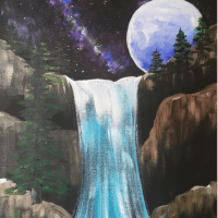 How To Paint Galaxy Falls