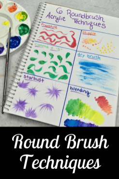Round brush paint techniques