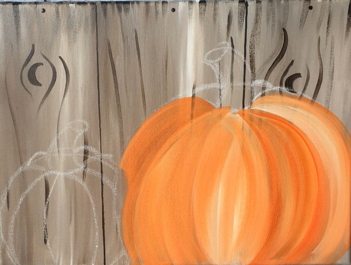 How To Paint Pumpkins On Canvas Step By Step Painting