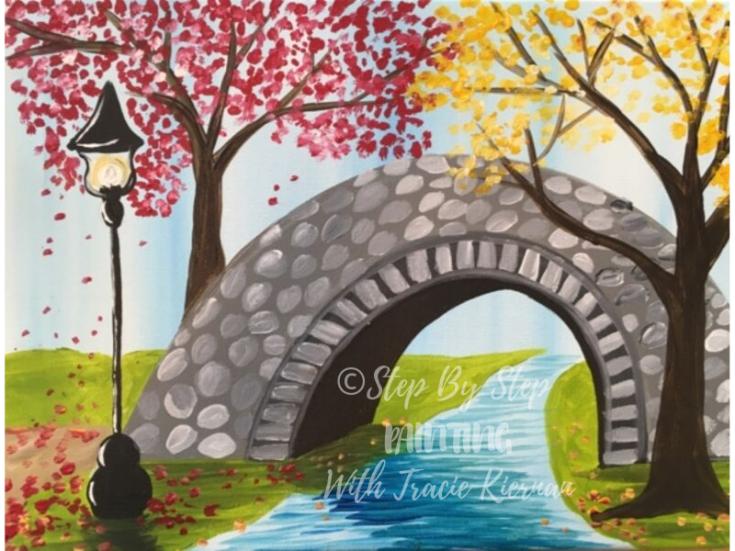 How To Paint An Autumn Bridge