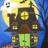 How To Paint A Haunted House