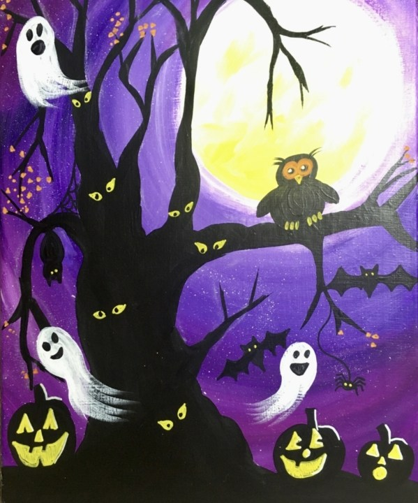 How To Paint A Spooky Tree