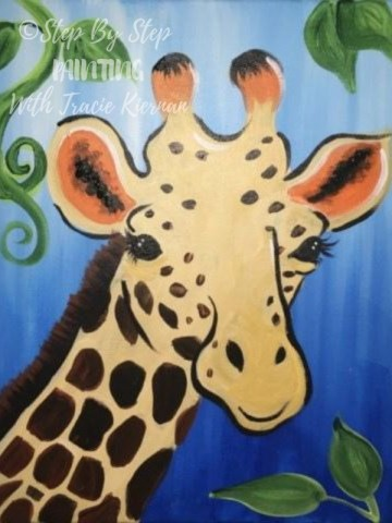 How To Paint A Giraffe Step By Step Painting With Tracie Kiernan