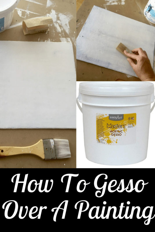 Link to how to gesso over your canvas painting