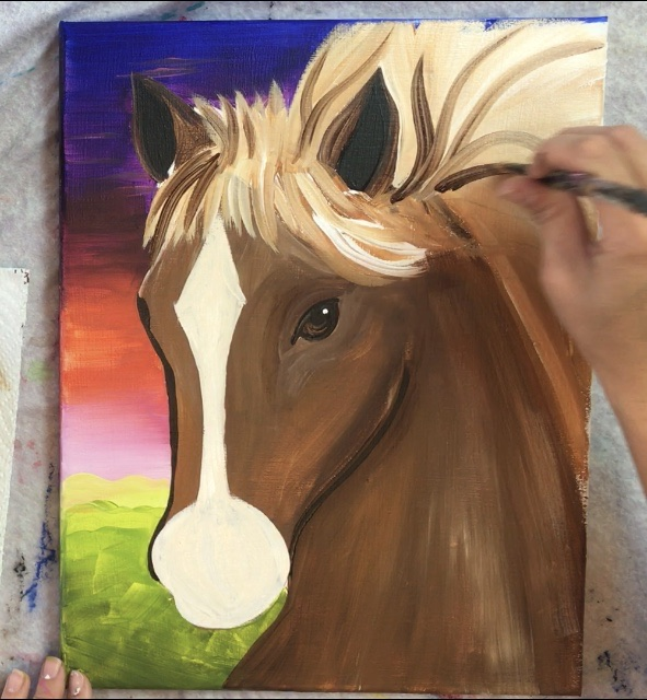 How To Paint A Horse Step By Step Painting Tutorial