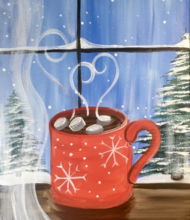 How To Paint Hot Cocoa Window