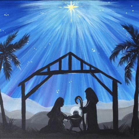 Nativity Silhouette Painting