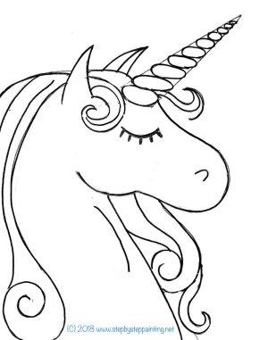 unicorn draw drawing step easy tutorial