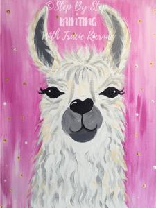 Llama Painting