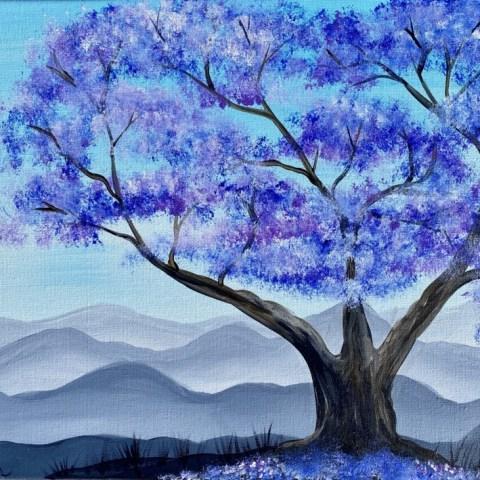 Jacaranda Tree Painting