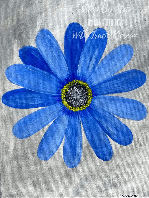 Blue Daisy Painting