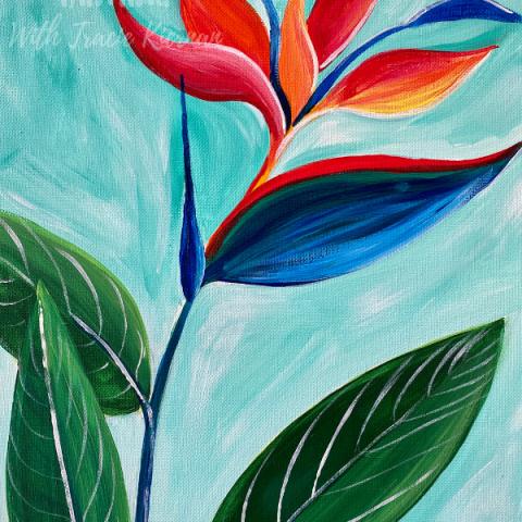 Bird Of Paradise Painting