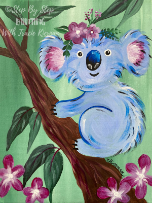 Picture of a painting of a koala